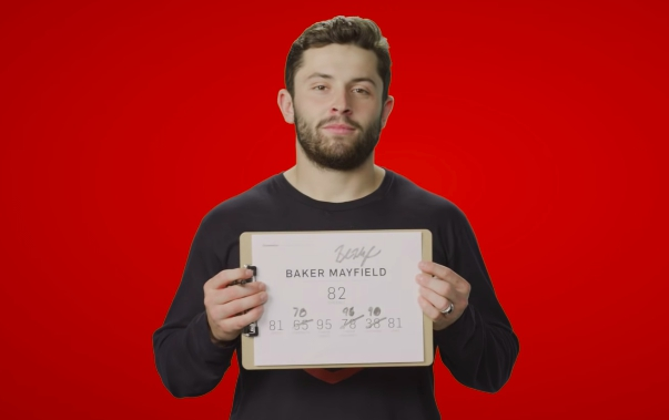 baker mayfield reacts madden ratings