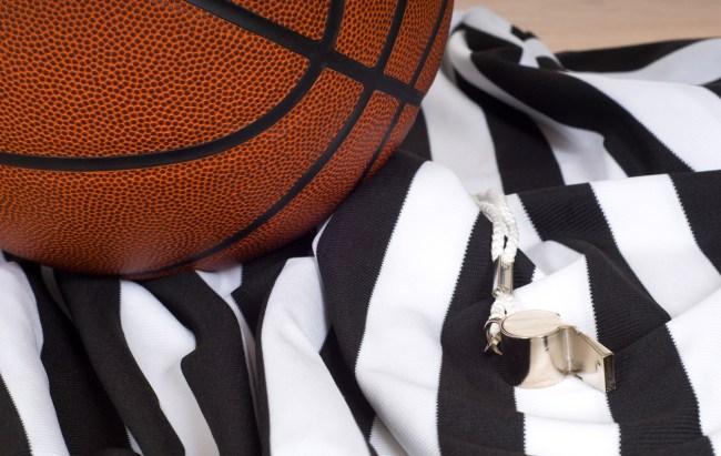 basketball referee uniform whistle
