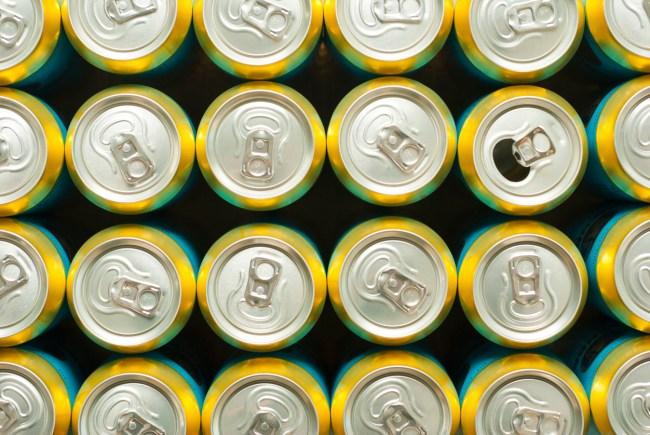 beer cans overhead
