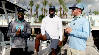 Two NFL Players Go Shark Fishing And Square Off To See Who Can Land The Biggest Sea Monster