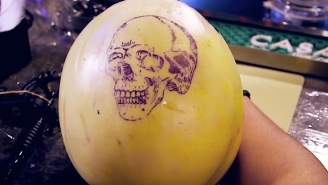 Tattoo Shop In Brooklyn Lets You Practice Tattooing Designs On Melons While Drinking