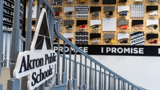 114 Pairs Of Game-Worn Sneakers Adorn The Walls Of Lebron James' Wonderful New 'I Promise' School