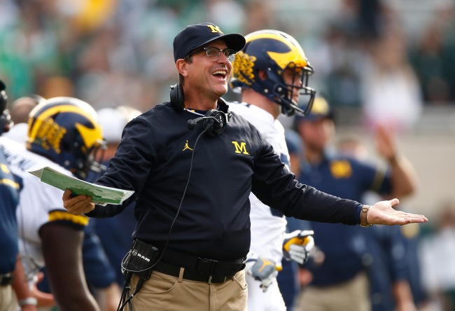 jim harbaugh michigan ducked ohio state game
