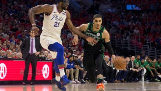 Watch Joel Embiid And Jayson Tatum Play One-On-One And Talk Sh*t To Each Other