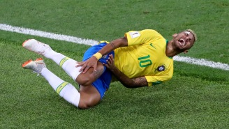 A Mexican Soccer Team Held A 'Neymar Challenge' Halftime Contest With Fans Faking Injury Across The Field