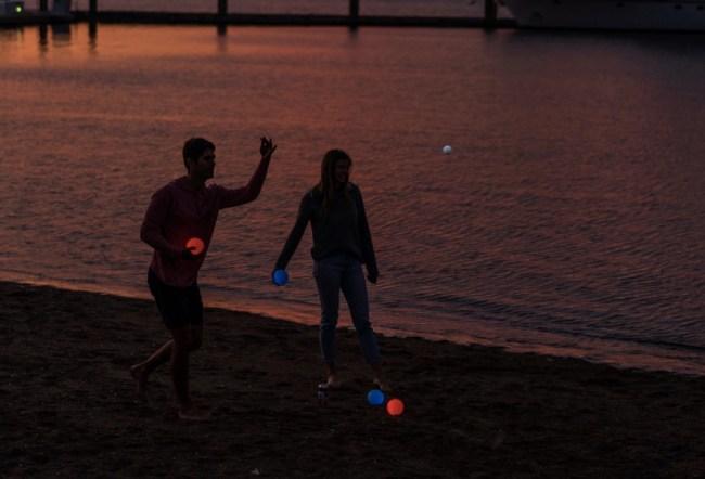 Playaboule glow in the dark bocce ball set