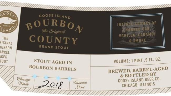 goose island bourbon county labels