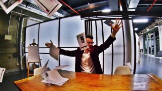 Disgruntled Office Employee Quits Job After Trashing Boss's Office And Spraying Champagne Everywhere