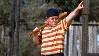 Guy In A 'You're Killing Me, Smalls' Shirt Bumps Into 'The Sandlot' Actors And He's Totally Clueless