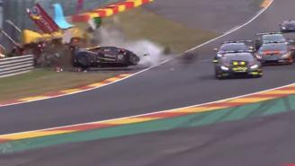 Watch A Lamborghini Huracan Get Wrecked During A Race