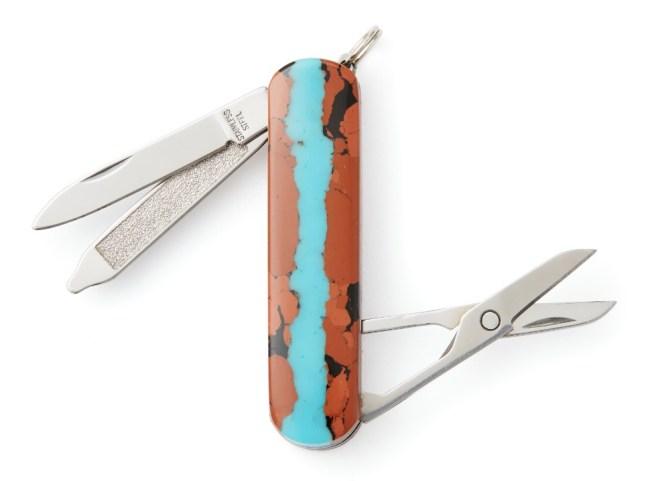 Santa Fe Stoneworks Vein Turquoise Pocket Knife Multi Tool