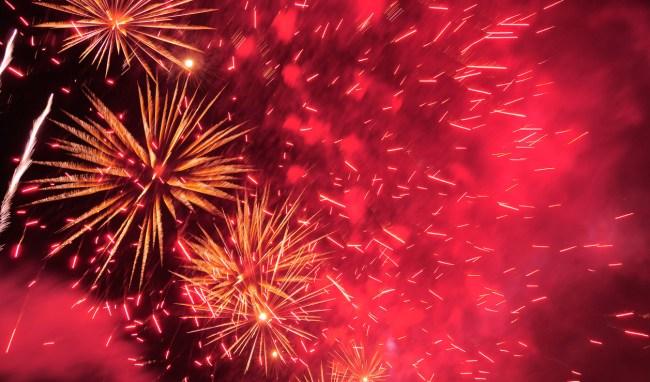 Watch Lightning Strike July 4th Fireworks