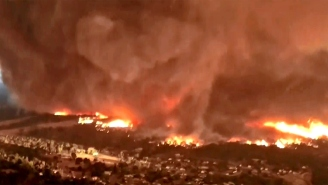 Videos Of Fire Tornado As Wide As 3 Football Fields, As Hot As 2,700 Degrees With 165 MPH Winds
