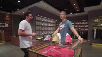 Cristiano Ronaldo Goes Sneaker Shopping In Beijing And Talks About The Origins Of His New Shoe