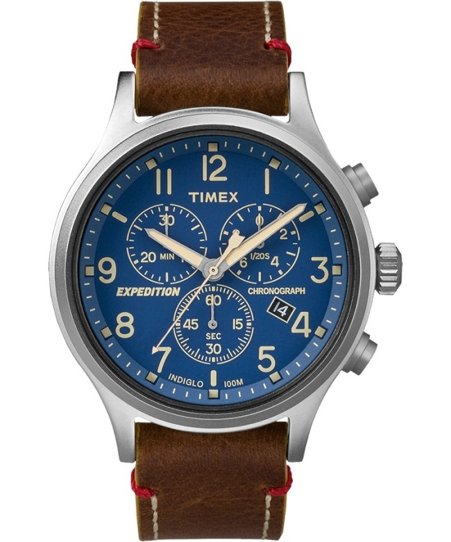 Expedition Chronograph 42mm Leather Strap Watch