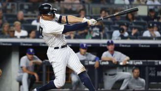 Giancarlo Stanton Hit The Hardest Home Run In Recorded History Last Night