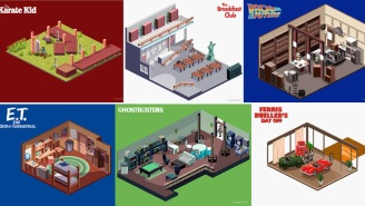 These Detailed GIFs Of Floor Plans From Classic 80s Movies In The Style Of Retro Pixel Art Are A++