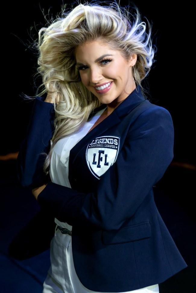 Heidi Golznig Legends Football League Sideline Reporter
