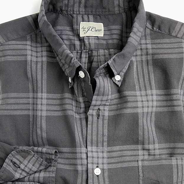 Overdyed plaid shirt