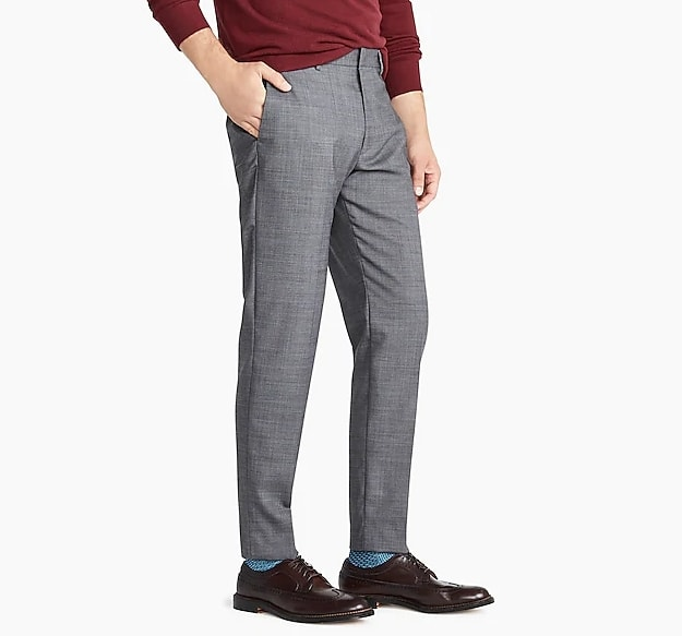 Ludlow Classic-fit pant in stretch grey four-season wool