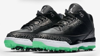 Nike Just Dropped Some New Black And Green Glow Air Jordan 3 Golf Shoes, But They're Going Fast
