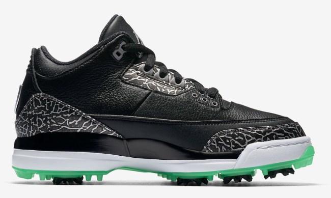 Jordan 3 Golf Shoe Green Glow