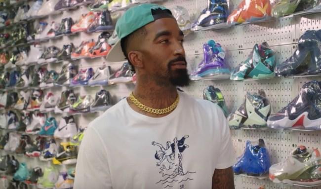 J.R. Smith sneaker shopping