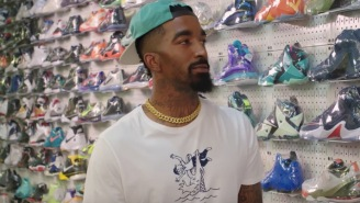 J.R. Smith Goes Sneaker Shopping In NYC And Talks About Wearing LeBron's Shoes Next Season