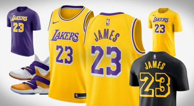 New Nike LeBron James Lakers Apparel