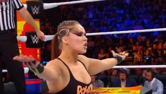 Twitter Had Jokes About Ronda Rousey's Eccentric Eye Makeup At SummerSlam, Compared Her To 'Nightman'