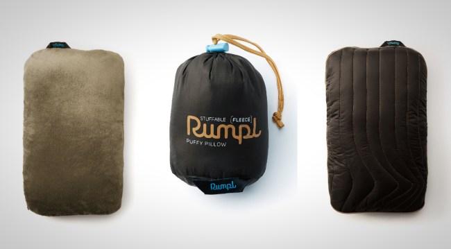 Rumple Fleece Travel Pillow Packable