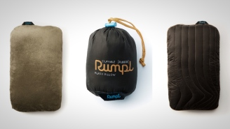 This Packable Fleece Travel Pillow From Rumpl Is A Game-Changer For Campers And Travelers (On Sale)