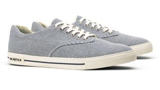 Step Out Looking Fresh In These Classic Railroad Stripe Sneakers From SeaVees