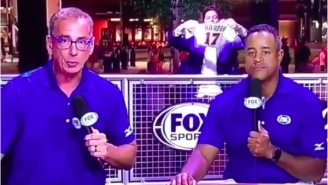 Security Guard Takes A Vicious Face Plant While Attending To Unruly Fan During Atlanta Braves Broadcast