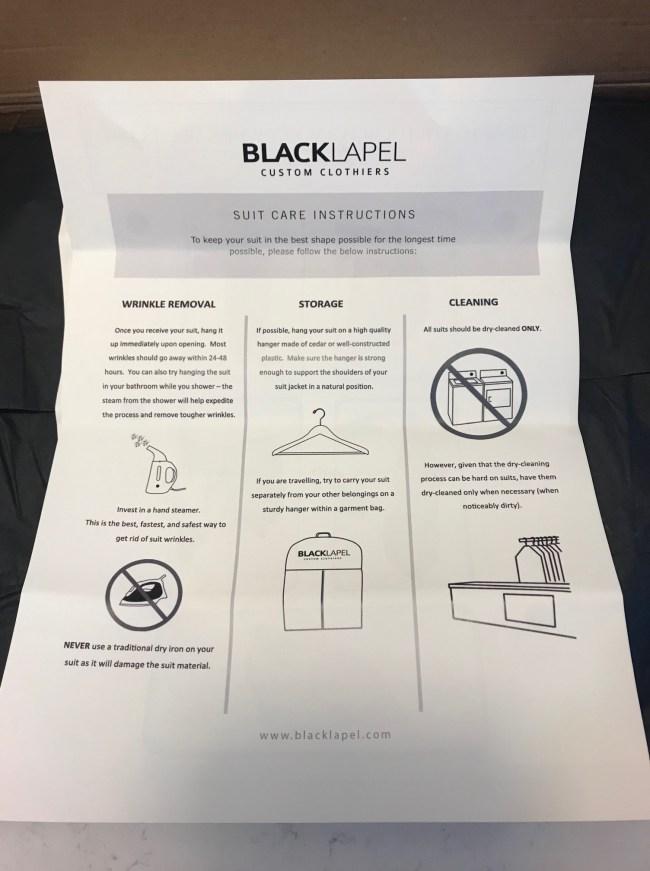 The Traveler Suit Black Lapel