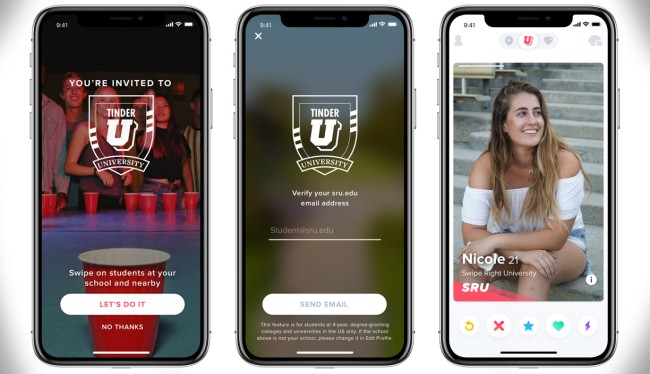 Tinder U New Feature College Students