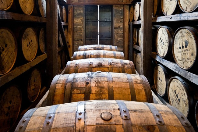 whiskey barrells