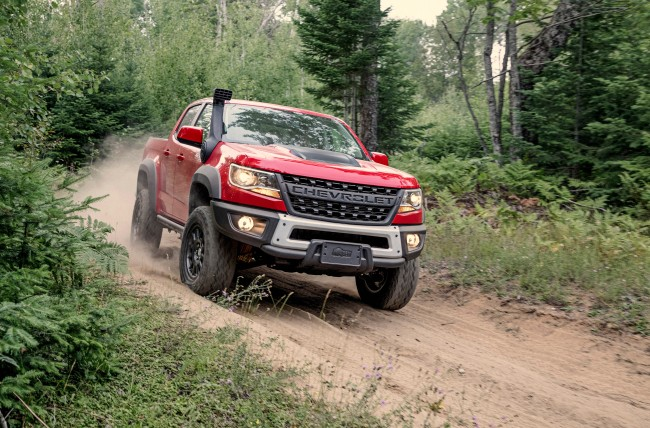 """An exclusive, flow-through """"CHEVROLET"""" lettered grille replaces the traditional bow-tie on Bison's front end."""