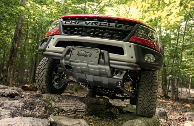 Colorado ZR2 Bison features five hot-stamped Boron steel skid plates that protect key undercarriage elements.