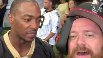 'Avengers' Actor And Saints Fan Anthony Mackie Shut Down An Annoying, Trash-Talking Falcons Fan