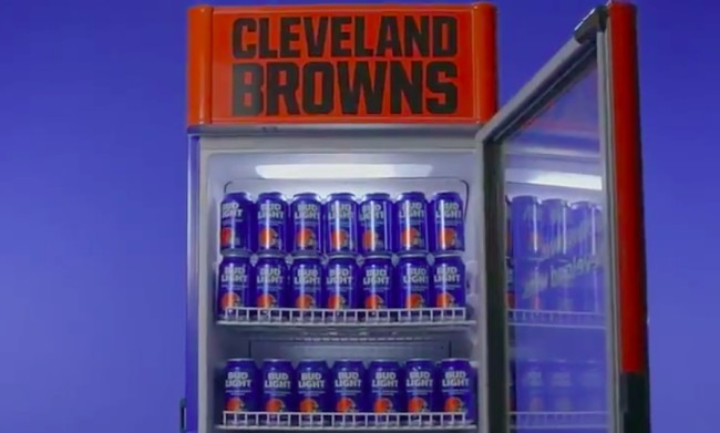 browns bud light victory fridges open
