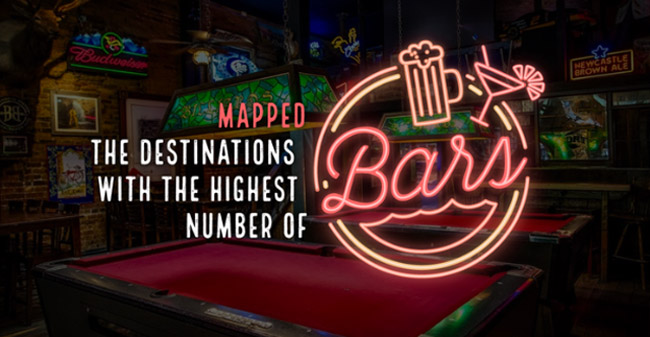 Cities With The Most Bars In The World