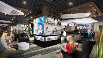 I Want To Live In One Of These Incredible New High Tech 'Fan Caves' At The Linq Sportsbook In Vegas