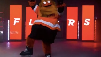 Some Genius Photoshopped Gritty The Philadelphia Flyers Mascot Into Stock Images And It Is Haunting