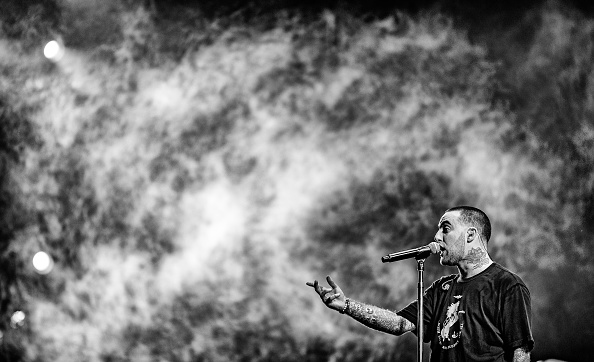 Musician Mac Miller performs onstage at the Sahara tent during day 1 of the Coachella Valley Music And Arts Festival (Weekend 1) at the Empire Polo Club on April 14, 2017 in Indio, California.pril 14, 2017 in Indio, California. (Photo by Christopher Polk/Getty Images for Coachella)