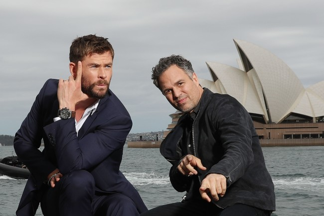 Mark Ruffalo and Chris Hemsworth