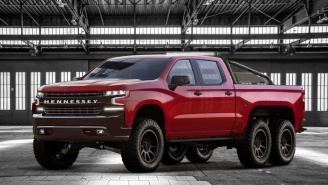 Hennessey Performance Goliath Is An 808-HP, Six-Wheeled 2019 Chevy Silverado Beast