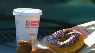 Dunkin' (Donuts) World Series Promotional Signs Seem To Advocate For The Punching Of Testicles