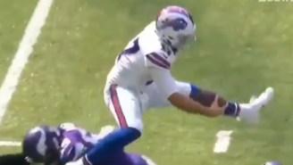 The Internet Reacts To Bills QB Josh Allen Hurdling Over Vikings Defender Anthony Barr During Scramble