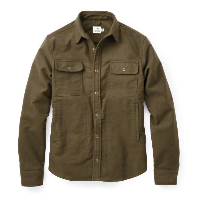 Moleskin Shirt Jacket by Flint and Tinder